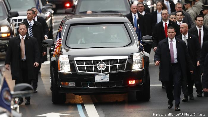 USA Einweihung Donald Trump - Mitarbeiter des Secret Service (picture-alliance/AP Photo/C. Kaster)