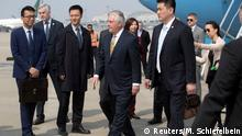 China Ankunft US-Außenminister Rex Tillerson