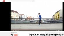 Youtube Screenshot Philipp Pflieger, Marathonläufer