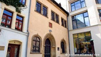 In diesem Haus am Andreaskirchplatz in Eisleben starb Luther am 18. Februar 1546
