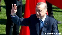 18.03.2017 *** Turkish President Tayyip Erdogan attends a ceremony marking the 102nd anniversary of Battle of Canakkale, also known as the Gallipoli Campaign, in Canakkale, Turkey, March 18, 2017. REUTERS/Osman Orsal