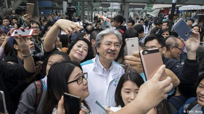 Hongkong New People's Party | John Tsang Chun-wah (DW/V. Wong)