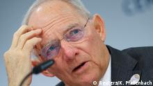 18.03.2017 German Finance Minister Wolfgang Schaeuble addresses a news conference at the G20 Finance Ministers and Central Bank Governors Meeting in Baden-Baden, Germany, March 18, 2017. REUTERS/Kai Pfaffenbach