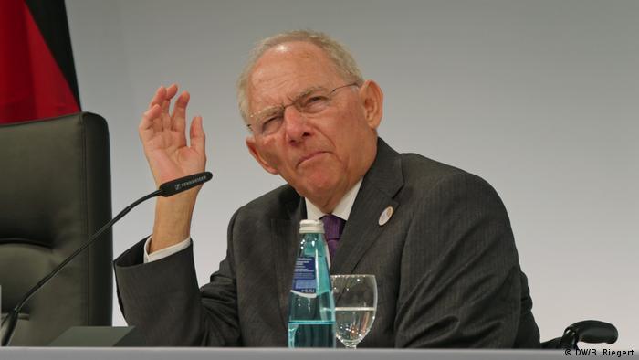 Deutschland Pressekonferenz G20 Finanzministertreffen   Bundesfinanzminister Wolfgang Schäuble