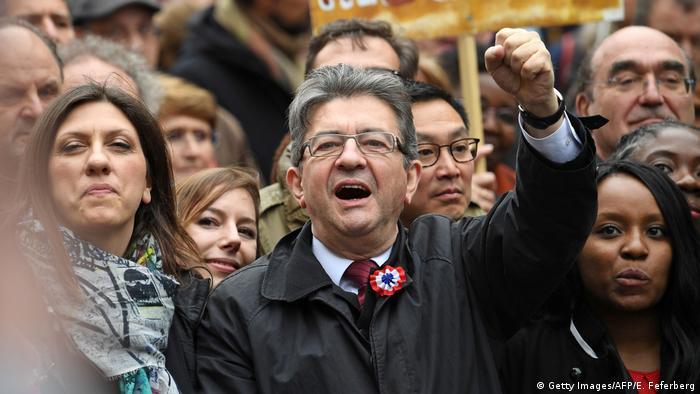 Frankreich Großkundgebung des französischen Präsidentschaftskandidaten Jean-Luc Mélenchon (Getty Images/AFP/E. Feferberg)