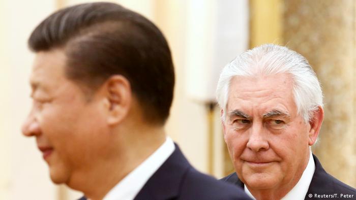 China Präsident Xi Jinping & US-Außenminister Rex Tillerson (Reuters/T. Peter)