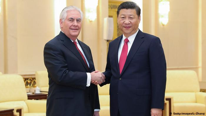 China Präsident Xi Jinping & US-Außenminister Rex Tillerson (Getty Images/L. Zhang)