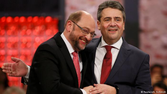 Martin Schulz and Sigmar Gabriel in March 2017