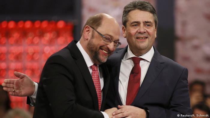 Martin Schulz and Sigmar Gabriel in March 2017