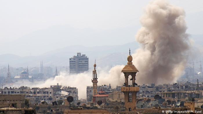Syrien Kämpfe im Osten von Damaskus ausgebrochen (Getty Images/AFP/M. Eyad)