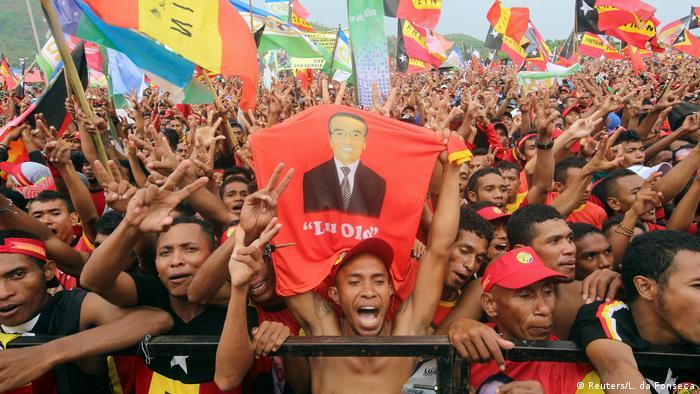 Ost-Timor Präsidentschaftswahlen Francisco Guterres Anhänger