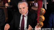 Brasilien Präsident Michel Temer in Steak House in Brasilia