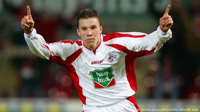 Lukas Podolski em 2003