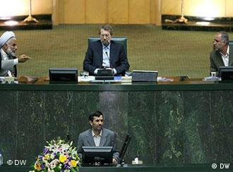 President Ahmadinejad in parliament