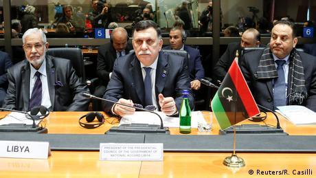 Italien Treffen Innenminister zum Thema Migration   Taha Siala, Libyen & Serraj, Libyen & Al-Aref Al-Khoja, Libyen (Reuters/R. Casilli)