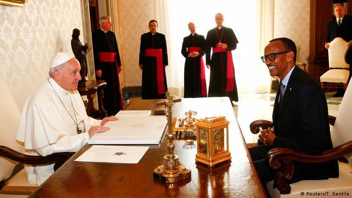 Vatikan Kagame bei Pabst Franziskus