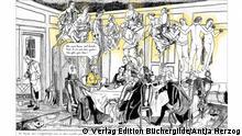 Graphic Novel Lampe und sein Meister Emmanuel Kant von Antje Herzog. Verlag Edition Büchergilde. Copyright liegt bei Antje Herzog.