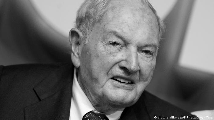David Rockefeller US Milliardär und Bankier (picture-alliance/AP Photo/D. van Tine)