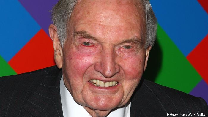 David Rockefeller US Milliardär und Bankier (Getty Images/A. H. Walker)