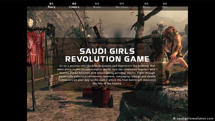 Screenshot der Website saudigirlsrevolution.com (saudigirlsrevolution.com)