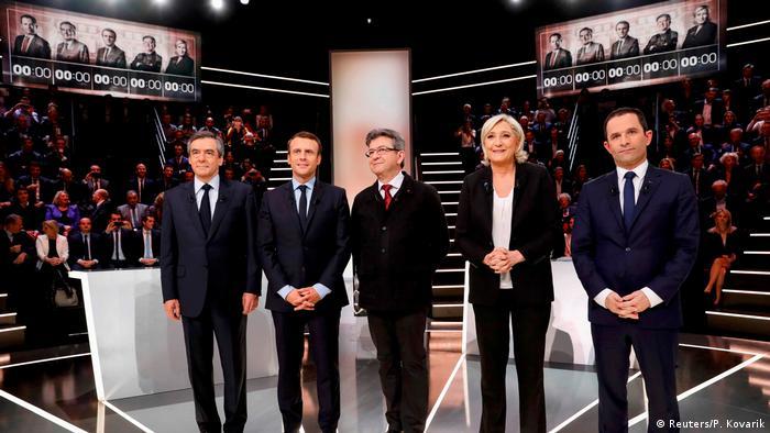 Fransa'da adaylar canlı yayında kapıştı