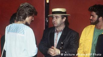 George Michael Prinzessin Diana und Elton John (picture alliance/AP Photo)