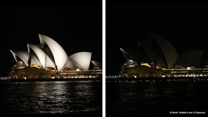 Earth Hour Sydney Opera House