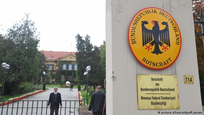 The German Embassy in Ankara, Turkey