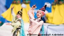 3054281 03/21/2017 Girls wearing traditional costumes for Nowruz celebrations in Bishkek. Tabyldy Kadyrbekov/Sputnik |