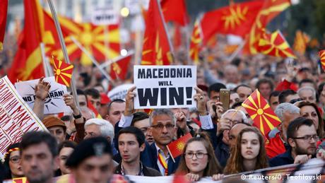 Mazedonien Proteste in Skopje (Reuters/O. Teofilovski)