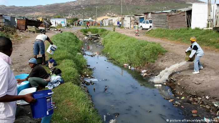 Slumviertel in Kapstadt, Südafrika
