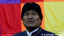 21.03.2017+++ Bolivia's President Evo Morales attends a vigil aimed at bringing luck to their maritime claim against Chile to the International Court of Justice in the Hague, at the Murillo square in La Paz, Bolivia, March 21, 2017 REUTERS/David Mercado