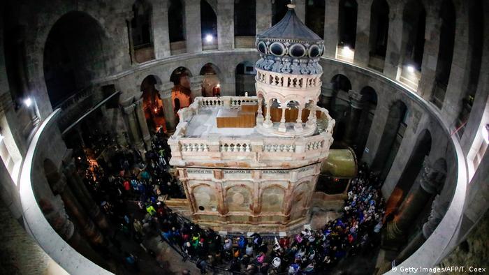 Túmulo de Jesus na Igreja do Santo Sepulcro