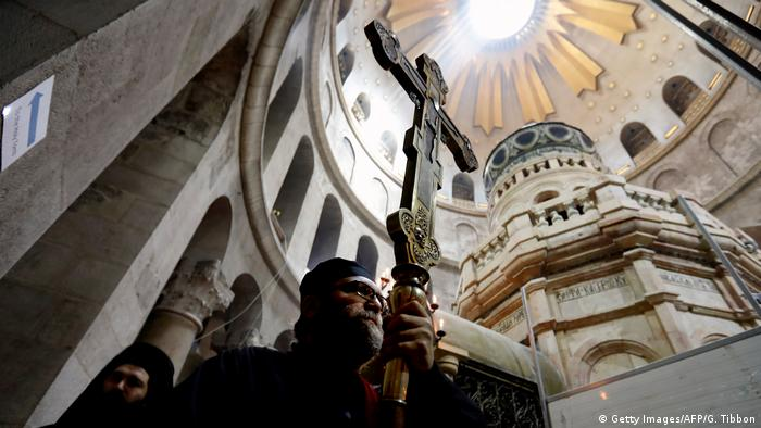 Jerusalem Grabeskirche Rotunde Ädikula Grab Jesus (Getty Images/AFP/G. Tibbon)