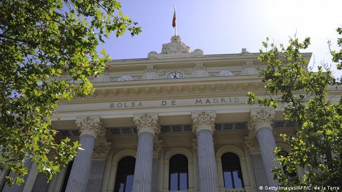 Madrid Börse Außenansicht (Getty Images/AFP/C. de la Torre)
