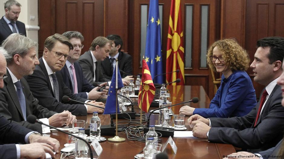 Хан и Прибе во Скопје  од владата се очекуваат реформи