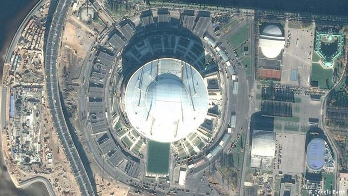 Стадион Кировский, снимок с воздуха