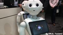 CeBIT 2017. DW Urdu's Atif Tauqeer visits the exhibition. 5 Days Information Technology festival is held in Northern German city of Hanover, where 3000 companies are participating with their innovative ideas and technology. Photographer: Atif Tauqeer