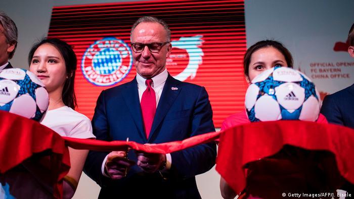 China | Karl Heinz Rummenigge eröffnet ersten Bayern München Standort in Shanghai