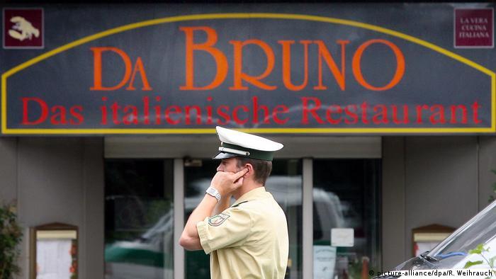 Итальянский ресторан в Дуйсбурге, рядом с которым в 2007 году произошли мафиозные разборки