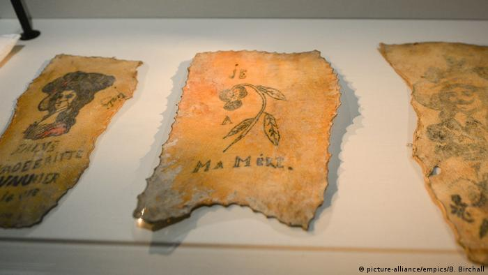 Tattoos on preserved human skin