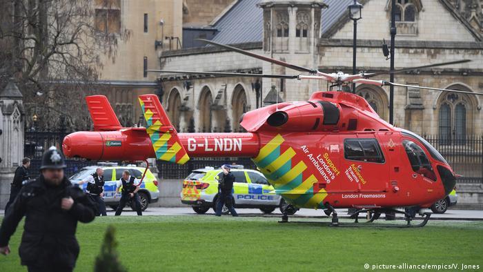 Imagen del atentado en Londres.