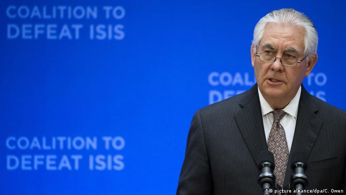 Rex Tillerson Anti -IS- Koalition Washington (picture alliance/dpa/C. Owen)