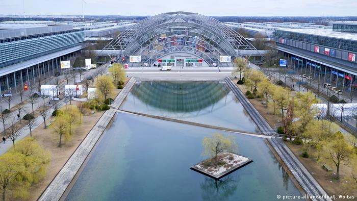 The trade fair grounds in Leipzig. (picture-alliance/dpa/J. Woitas)