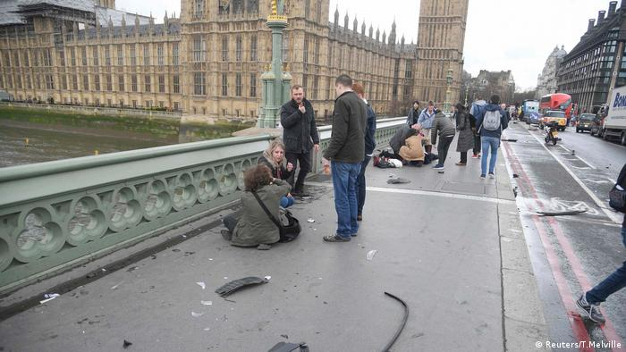 London Anschlag Westminster Brücke