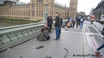 A ponte Westminster, onde ocorreu o ataque