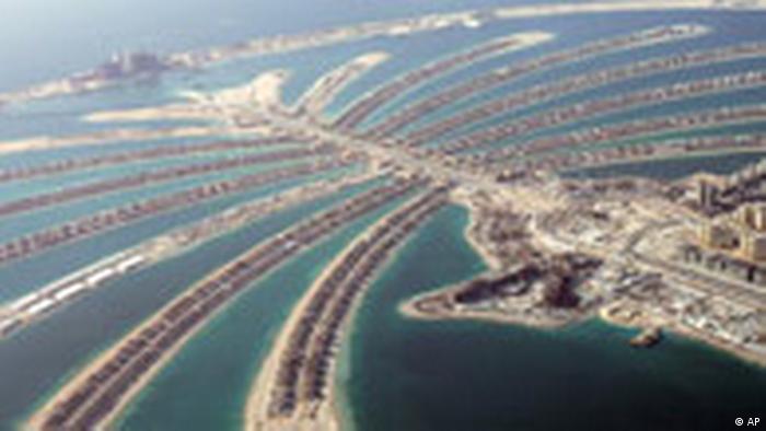 Künstliche Inseltwelt in Dubai
