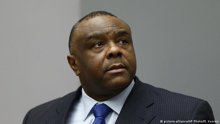 Former Congolese VP Jean-Pierre Bemba at the courtroom of the International Criminal Court in The Hague