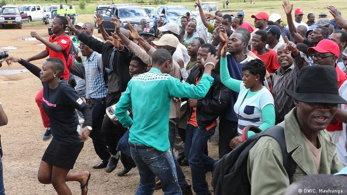 Opposition protesters in Zimbabwe