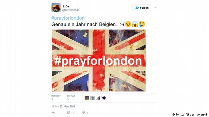 Twitter #prayforlondon